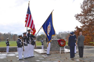 The 2012 Virginia Tech Corps of Cadets Veterans Day Ceremony at War Memorial Court