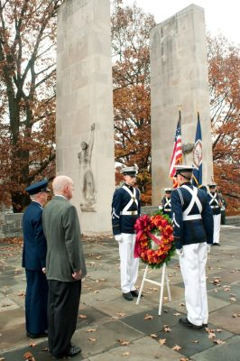 veterans honored with wreath