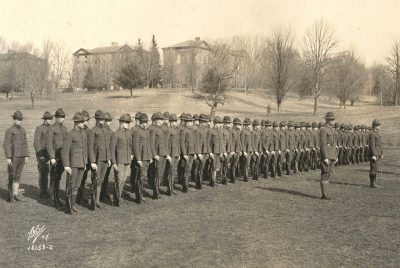 Virginia Polytechnic Institute troops during World War I